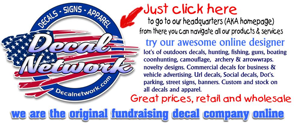 Hunting Hunt Club Sportsman Fishing Gun Archery Decal Sticker Custom - Custom vinyl decals design online